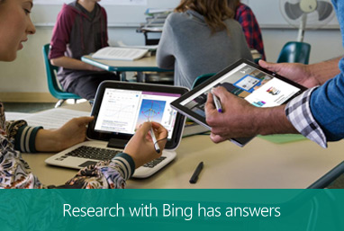 Research with Bing has answers