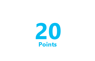 20 Points with active Xbox Live Gold